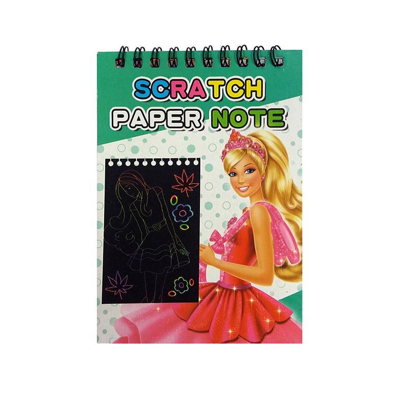 قیمت خرید دفتر یادداشت مدل scratch طرح باربی به همراه مداد scratcher اورجینال