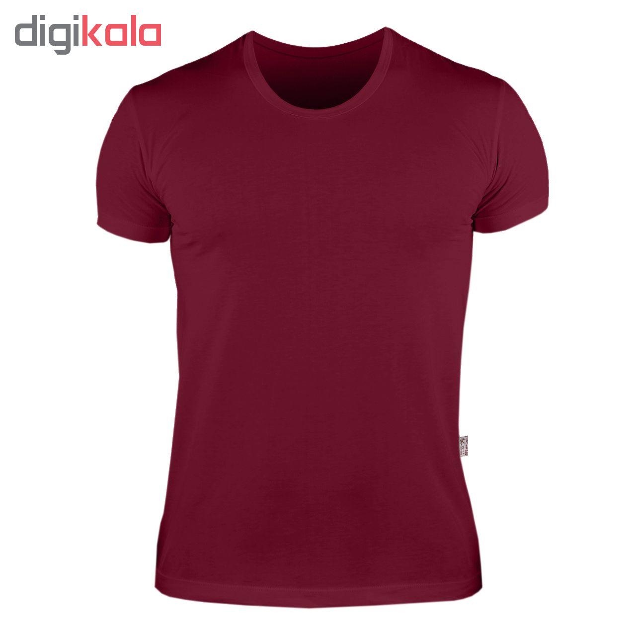 زیرپوش مردانه بهپوش کد KP104 رنگ زرشکی