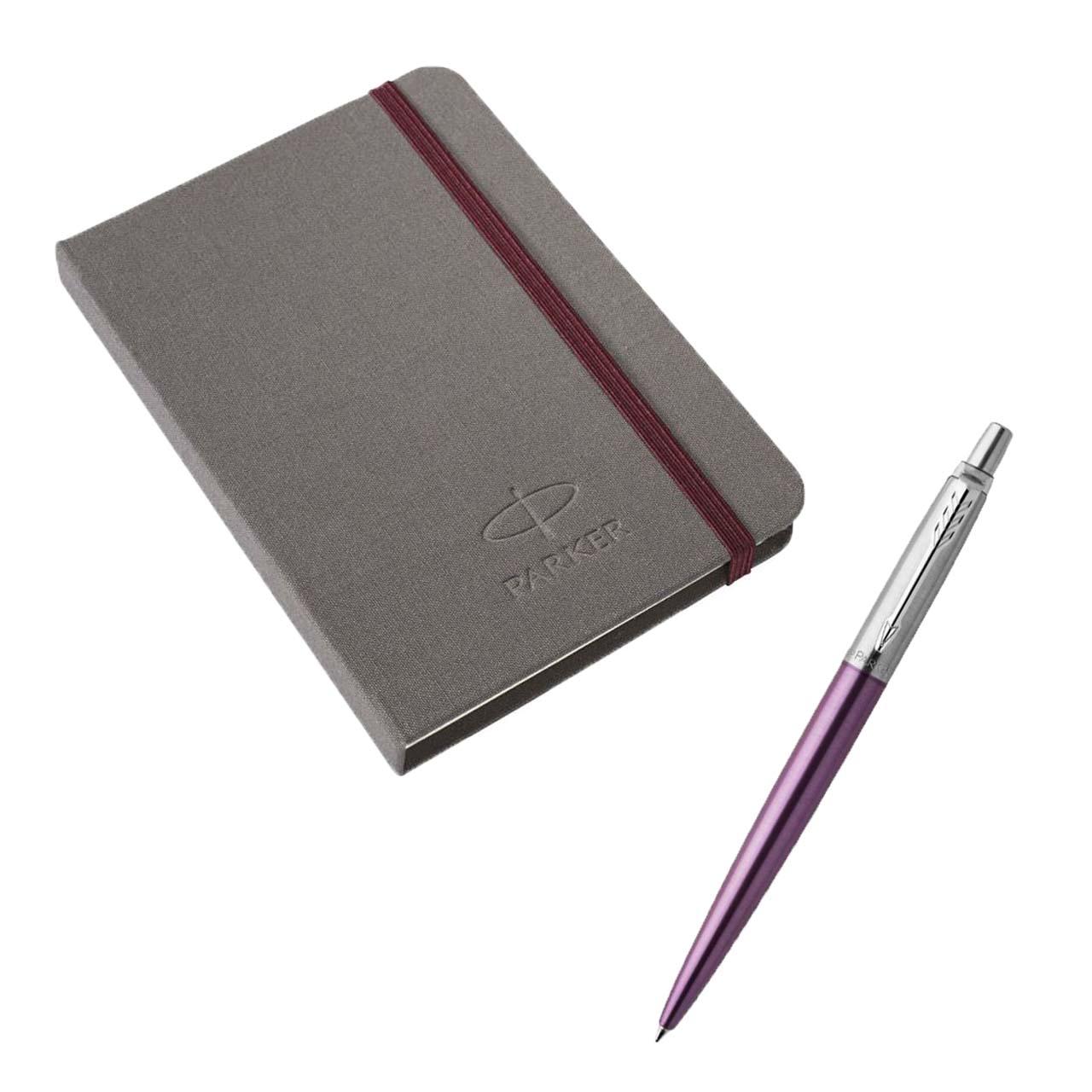 ست خودکار و دفترچه یادداشت پارکر مدل Jotter Victoria مجموعه دو عددی