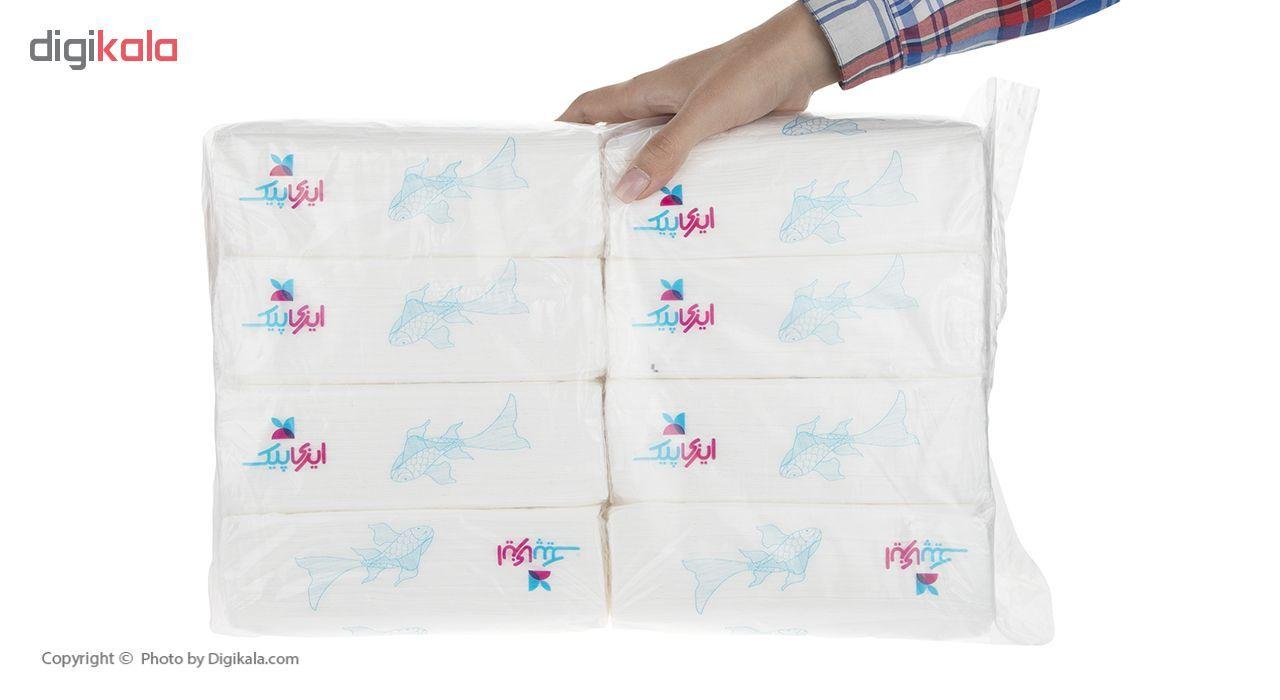 دستمال کاغذی 100 برگ ایزی پیک مدل Fish بسته 8 عددی main 1 4