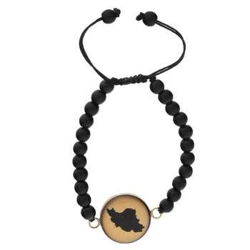 دستبند طلا 24 عیار زنانه سام نورزاده طرح ایران کد 37