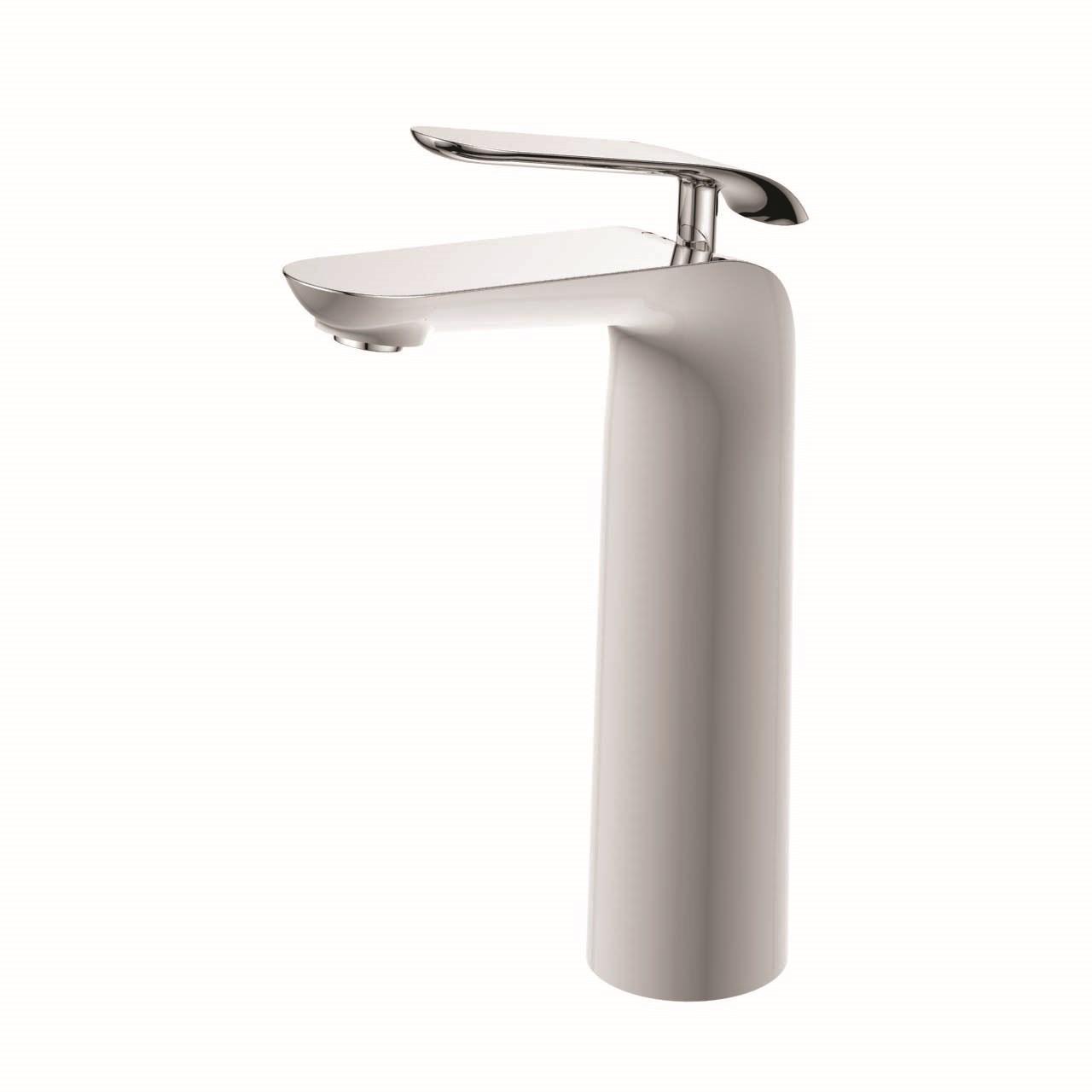 شیر روشویی پایه بلند ویسن تین مدل BIANCO  سفید کروم