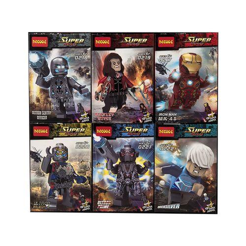 ساختنی دکول مدل Super Heroes 0217-0222 مجموعه 6 عددی