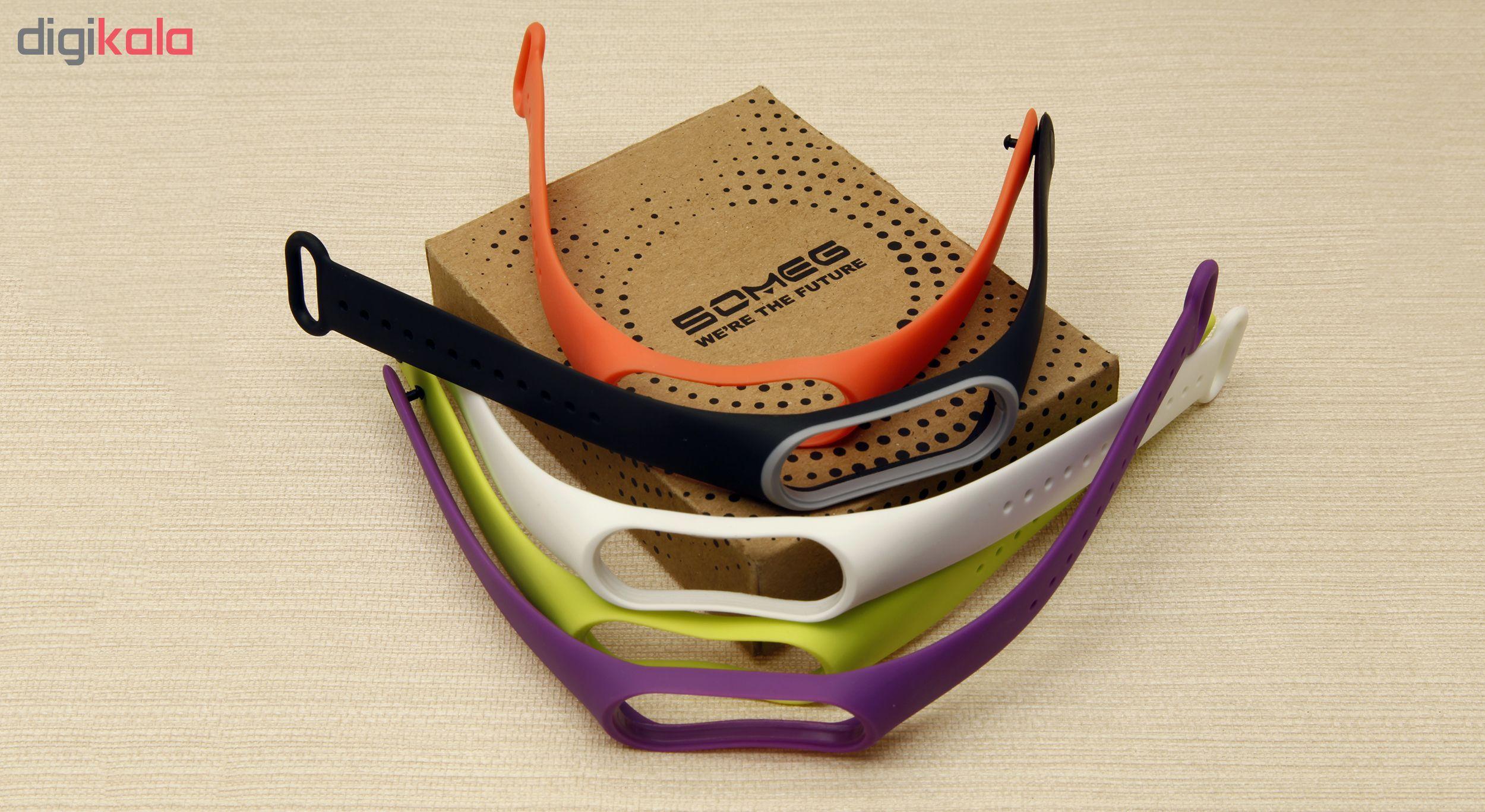 بند سومگ مدل SMG-P2 مناسب برای مچ بند هوشمند شیائومی Mi Band 4  مجموعه 5 عددی main 1 17