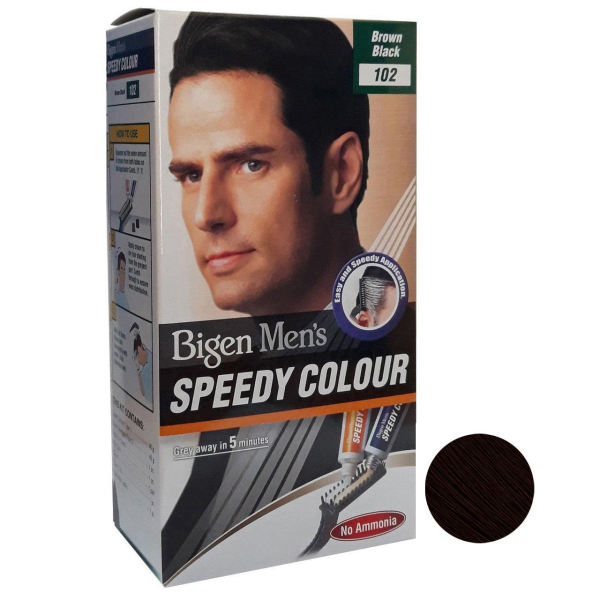 کیت رنگ مو بیگن سری Speedy Colour شماره 102 حجم 40 میلی لیتر رنگ قهوه ای تیره