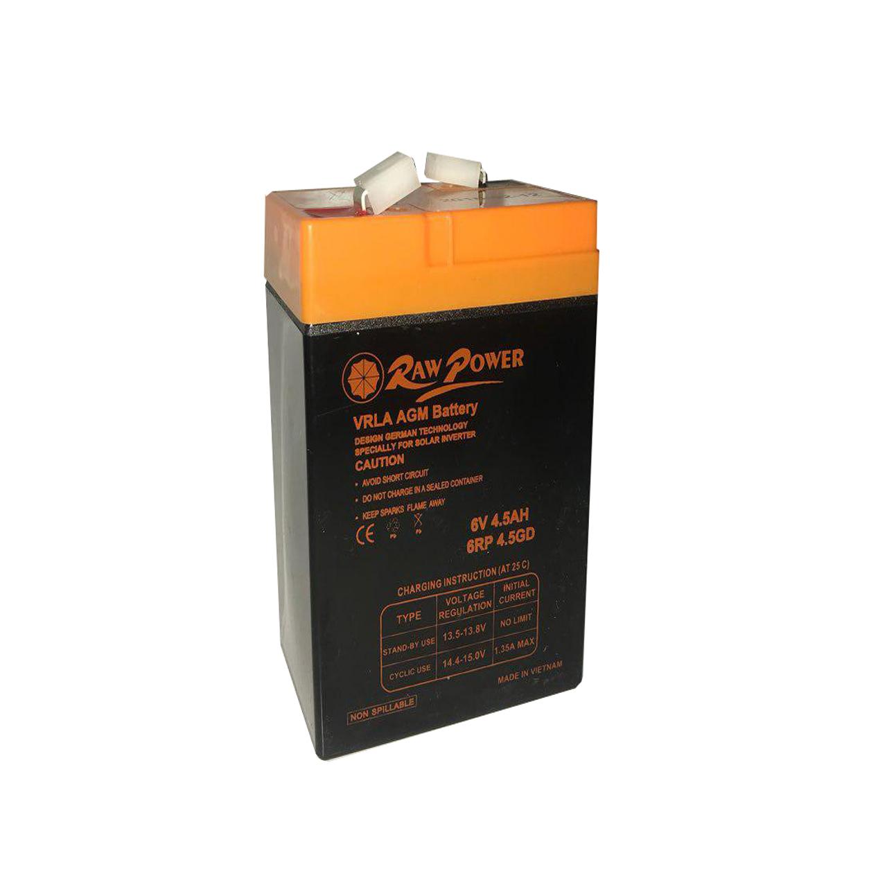 باتری یو پی اس  6 ولت 4.5 آمپر ساعت راو پاور مدل RW 6-4.5