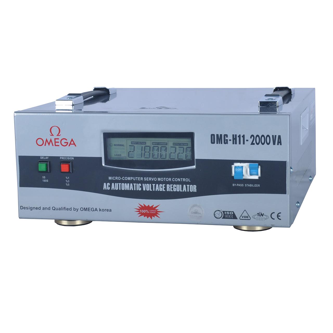 استابلایزر امگا مدل OMG-H11-2KVA ظرفیت 2000VA
