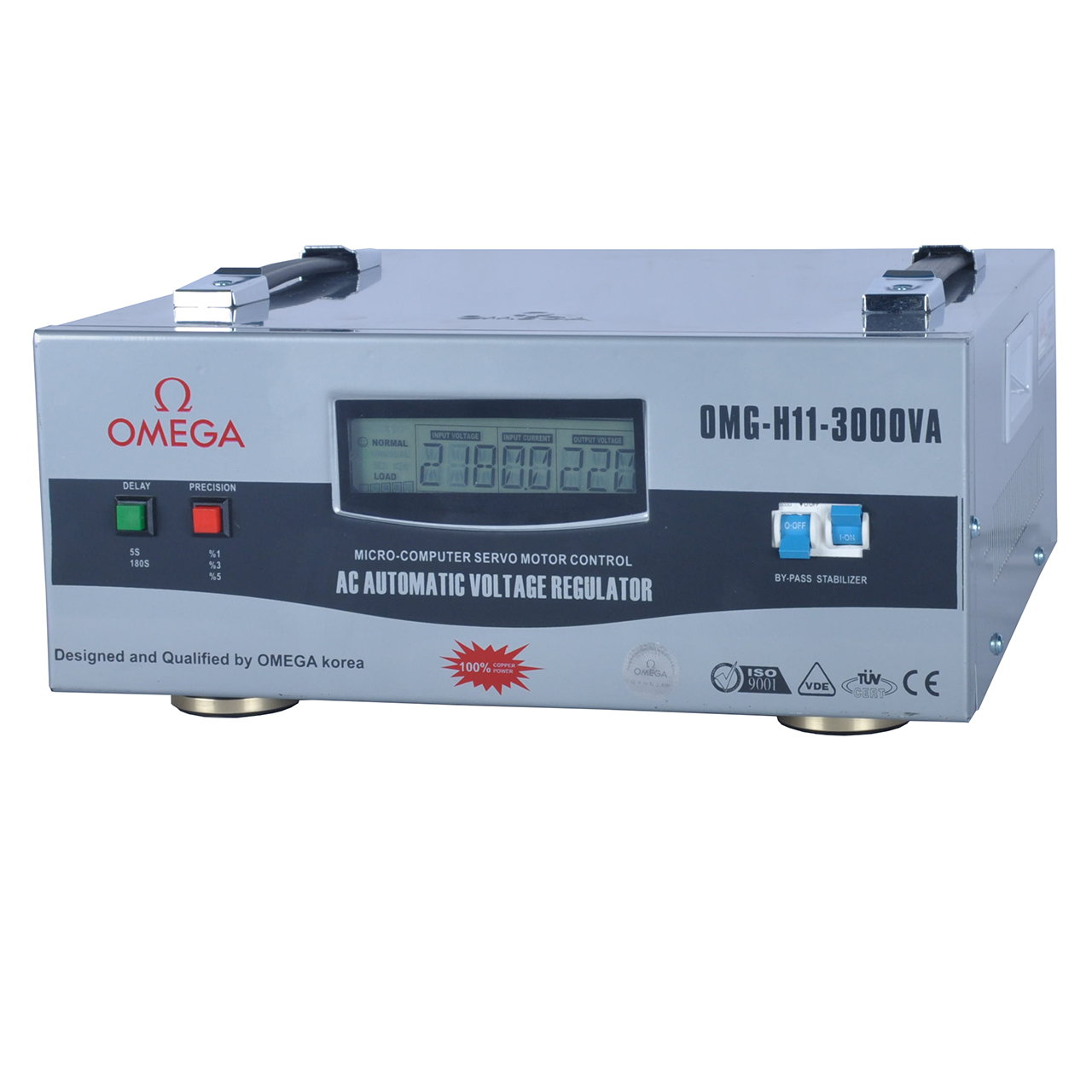 استابلایزر امگا مدل OMG-H11-3KVA ظرفیت 3000VA