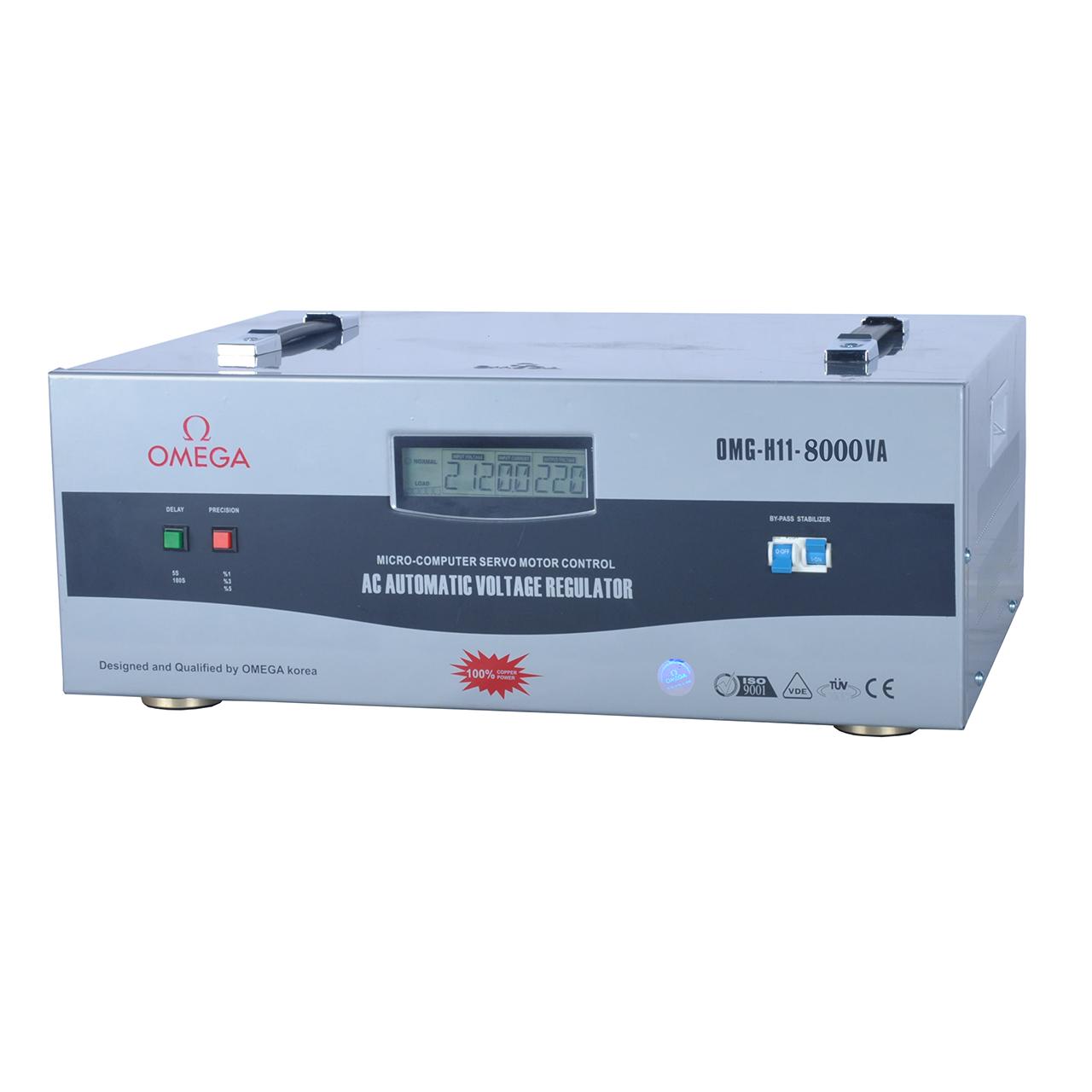 استابلایزر امگا مدل OMG-H11-8KVA ظرفیت 8000VA