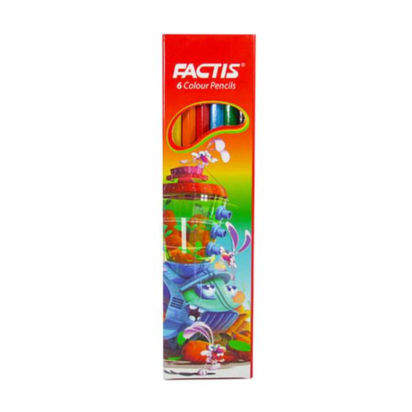 مداد رنگی 6 رنگ فکتیس کد 601-2