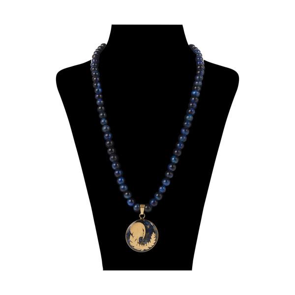 گردنبند طلا 24 عیار زنانه سام نورزاده طرح ماه شهریور کد 39