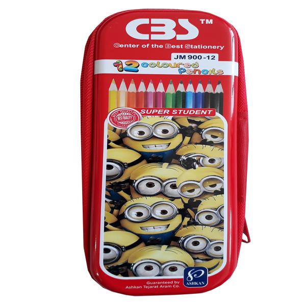 مداد رنگی 12 رنگ  سی بی اس  مدل 910