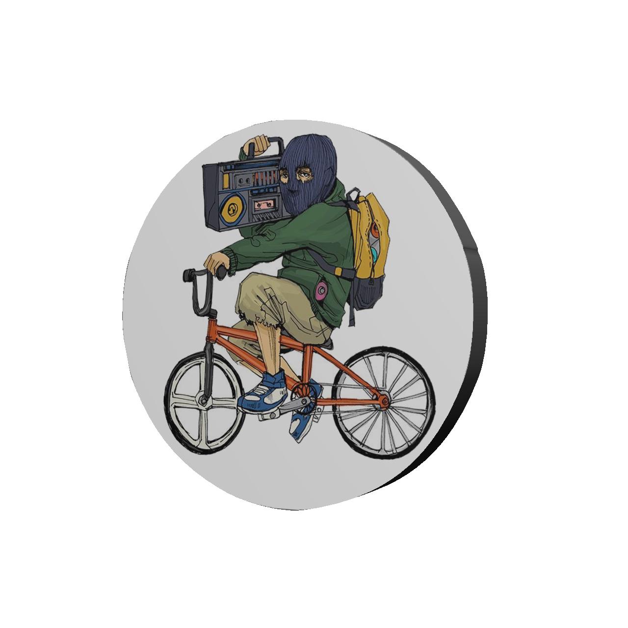 استیکر طرح دوچرخه سوار کد 260