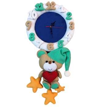 ساعت دیواری کودک طرح خرس خوابالو کد ۰۲