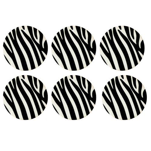زیر لیوانی طرح zebra  بسته 6 عددی