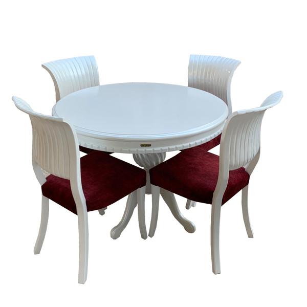 میز و صندلی ناهار خوری اسپرسان چوب مدل Sm48