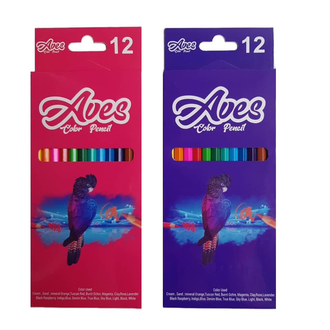 مداد رنگی ۱۲ رنگ اویز مدل فانی فان مجموعه 2 عددی