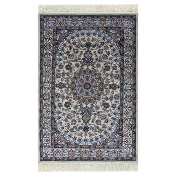 فرش ماشینی ساوین کد 2105 زمینه کرم