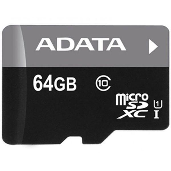 کارت حافظه microSDXC ای دیتا مدل Premier کلاس 10 استاندارد UHS-I U1 سرعت 50MBps ظرفیت - 64 گیگابایت | Adata Premier UHS-I U1 Class 10 50MBps microSDXC - 64GB