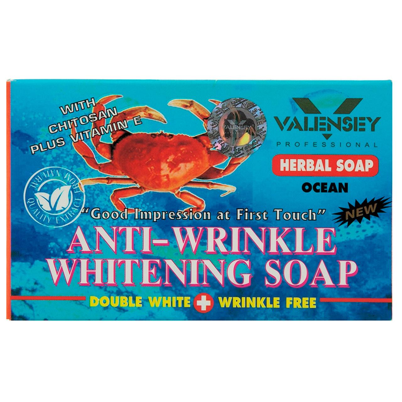 خرید                      صابون ضد چروک و روشن کننده والنسی مدل Crab مقدار 70 گرم