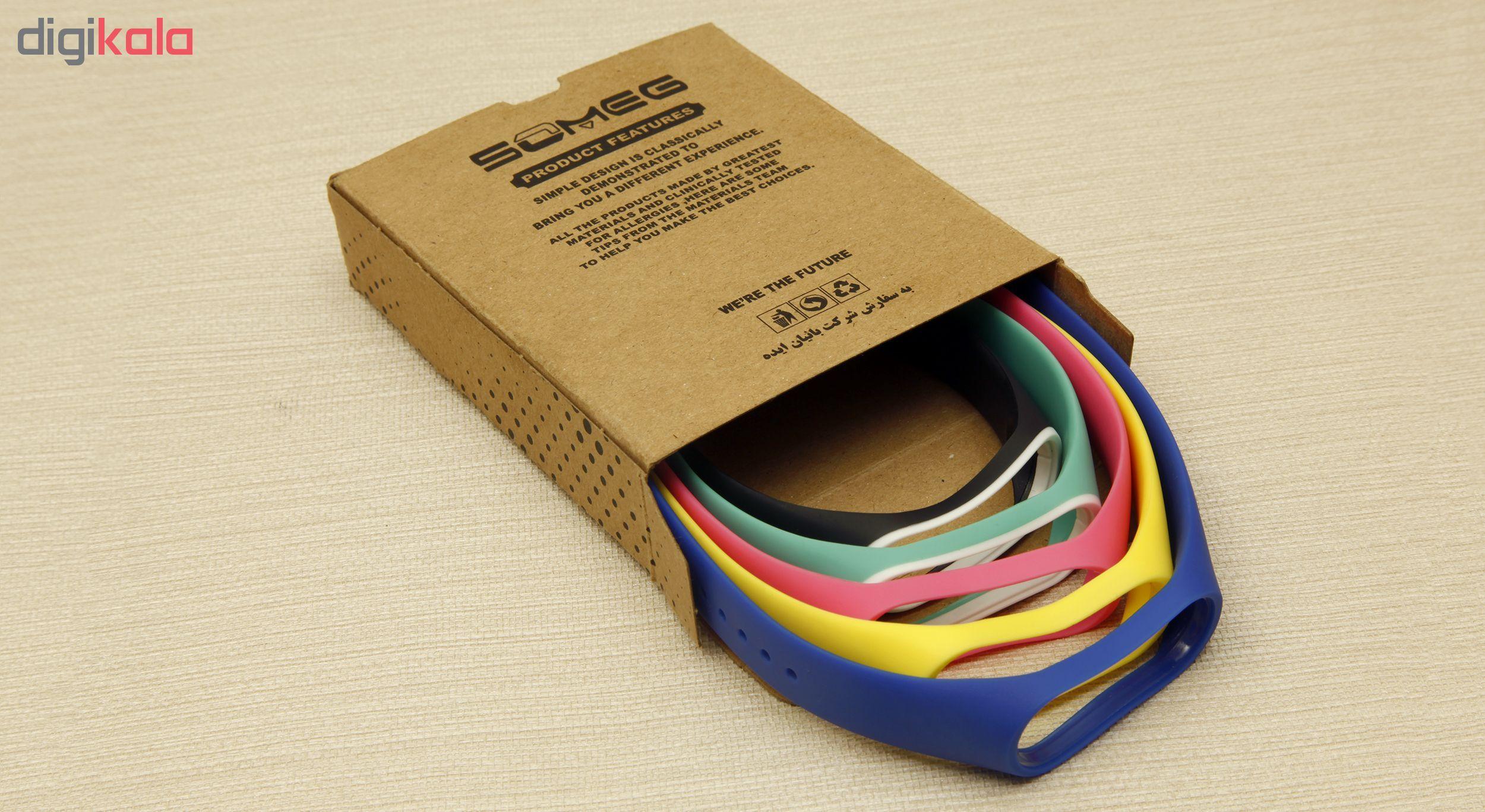 بند سومگ مدل SMG-P1 مناسب برای مچ بند هوشمند شیائومی Mi Band 4  مجموعه 5 عددی main 1 16