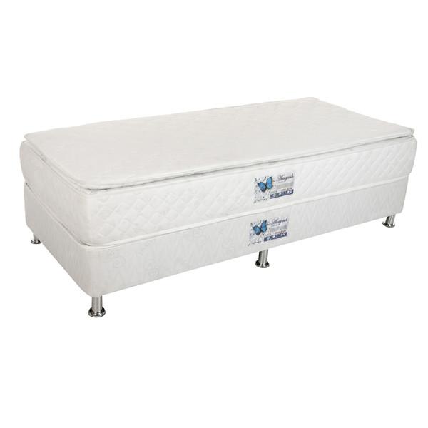 تخت خواب یک نفره آسایش باکس مدل AK57 به همراه تشک طبی یک طرف پد