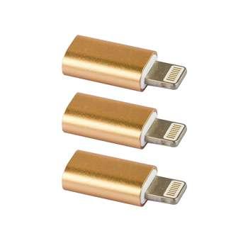 مبدل micro USB به لایتنینگ کد 0033 بسته 3 عددی