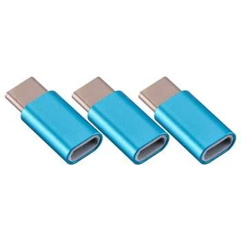مبدل USB-C به microUSB کد 003 بسته 3 عددی
