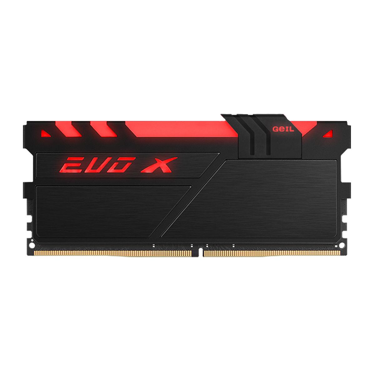 رم دسکتاپ DDR4 تک کاناله 2400 مگاهرتز CL16 گیل مدل Evo X ظرفیت 16 گیگابایت RGB