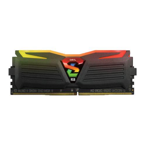 رم دسکتاپ DDR4 تک کاناله 2400 مگاهرتز CL16 گیل مدل Super Luce RGB lite ظرفیت 16 گیگابایت