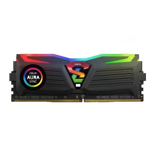 رم دسکتاپ DDR4 تک کاناله 2400 مگاهرتز CL16 گیل مدل Super Luce RGB Sync ظرفیت 16 گیگابایت