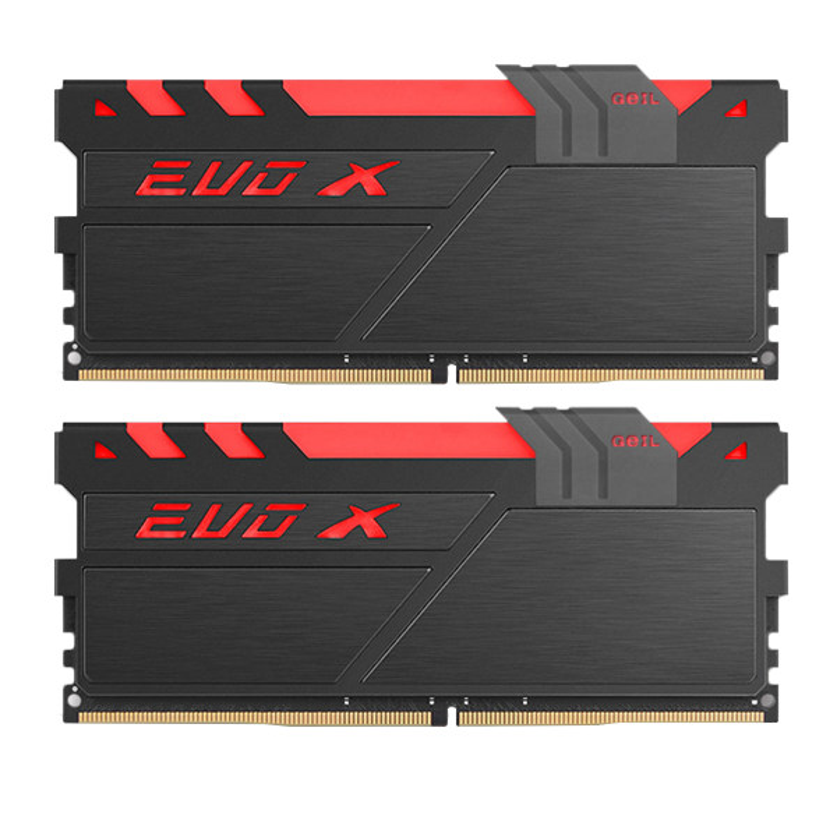 رم دسکتاپ DDR4 دو کاناله 2400 مگاهرتز CL17 گیل مدل Evo X AMD Edition ظرفیت 16 گیگابایت