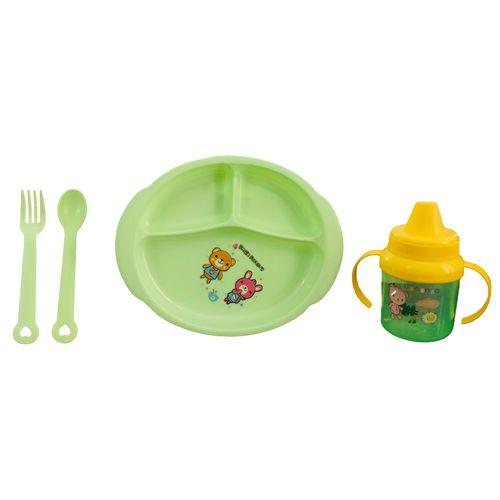 سرویس غذا خوری 4 تکه کودک مدل مهتاب کد DS3556