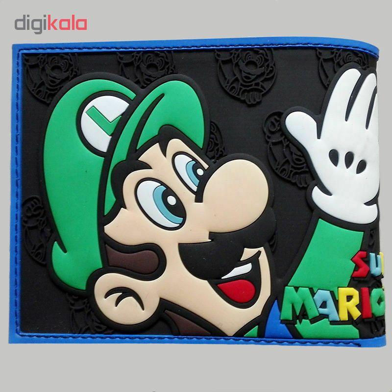 کیف پول پسرانه طرح ماریو و لوییجی کد W322