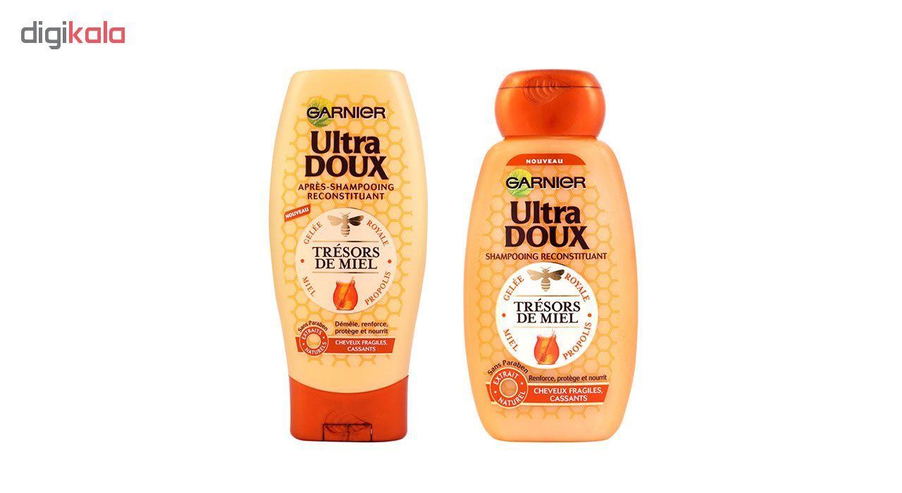 مجموعه شامپو و نرم کننده مو گارنیه سری Ultra Doux مدل Honey main 1 1