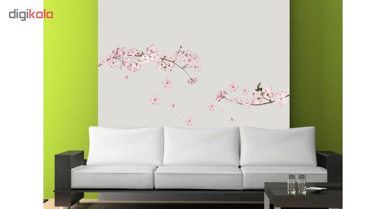 استیکر دیواری طرح شکوفه های بهاری کد 01