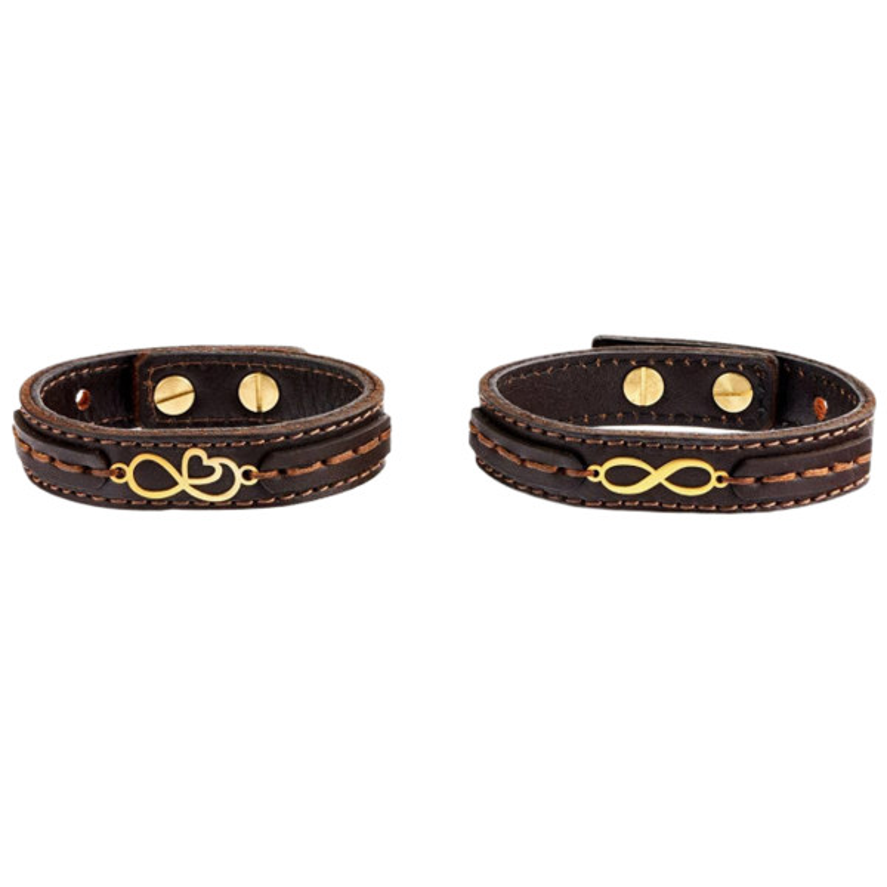 دستبند طرح قلب و بینهایت کد Zh-S1 مجموعه 2 عددی