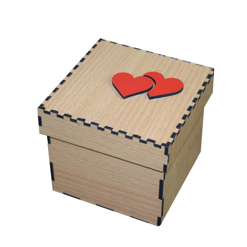 خرید                      جعبه هدیه طرح دو قلب کد JB-139-H