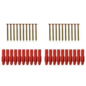مجموعه 40 عددی میخ و رولپلاک مدل BD 1003028.42