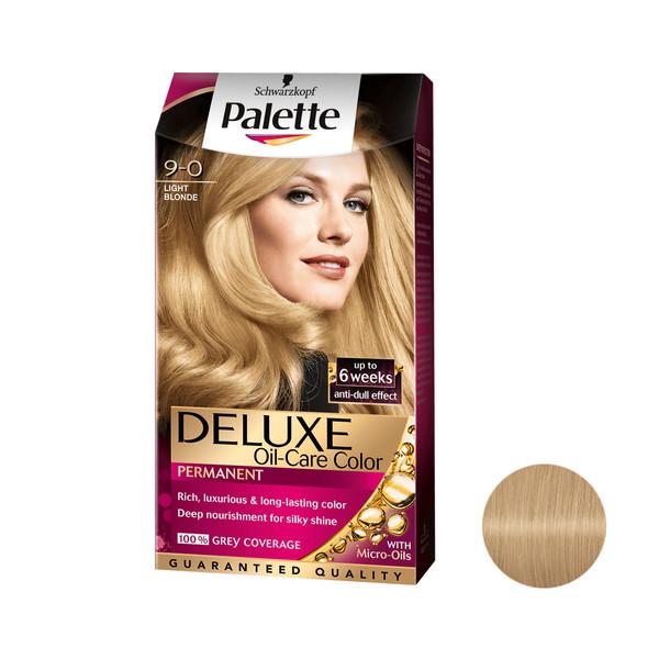 کیت رنگ مو پلت سری DELUXE شماره 0-9 حجم 50 میلی لیتر رنگ بلوند روشن