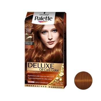 کیت رنگ مو پلت سری DELUXE شماره 57-7 حجم 50 میلی لیتر رنگ مسی