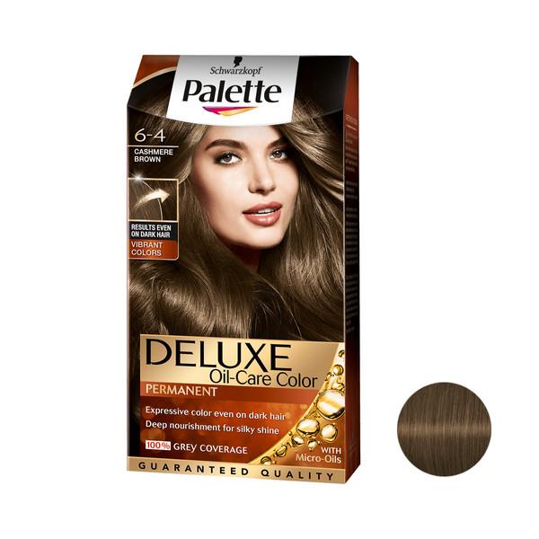 کیت رنگ مو پلت سری DELUXE شماره 4-6 حجم 50 میلی لیتر رنگ قهوه ای