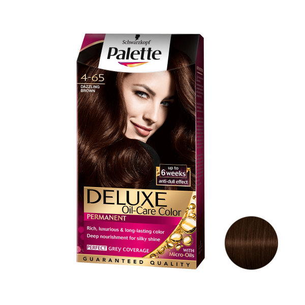 کیت رنگ مو پلت سری DELUXE شماره 65-4 حجم 50 میلی لیتر رنگ قهوه ای