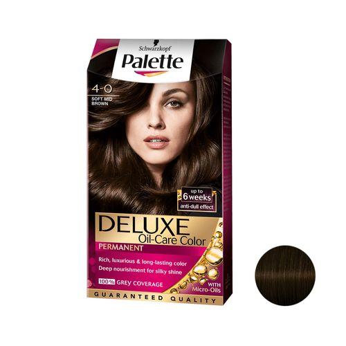 کیت رنگ مو پلت سری DELUXE شماره 0-4 حجم 50 میلی لیتر رنگ قهوه ای متوسط