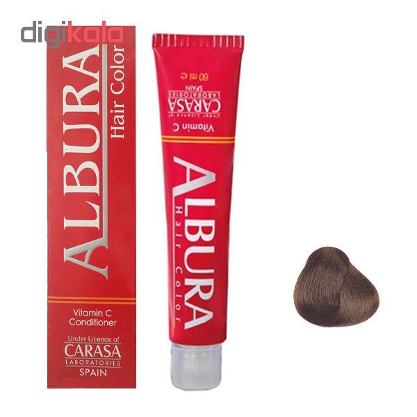 رنگ مو آلبورا مدل carasa شماره m5-6.2 حجم 100 میلی لیتر رنگ بلوند زیتونی تیره