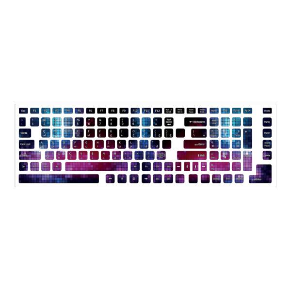 برچسب حروف فارسی کیبورد طرح مدرن کد 02