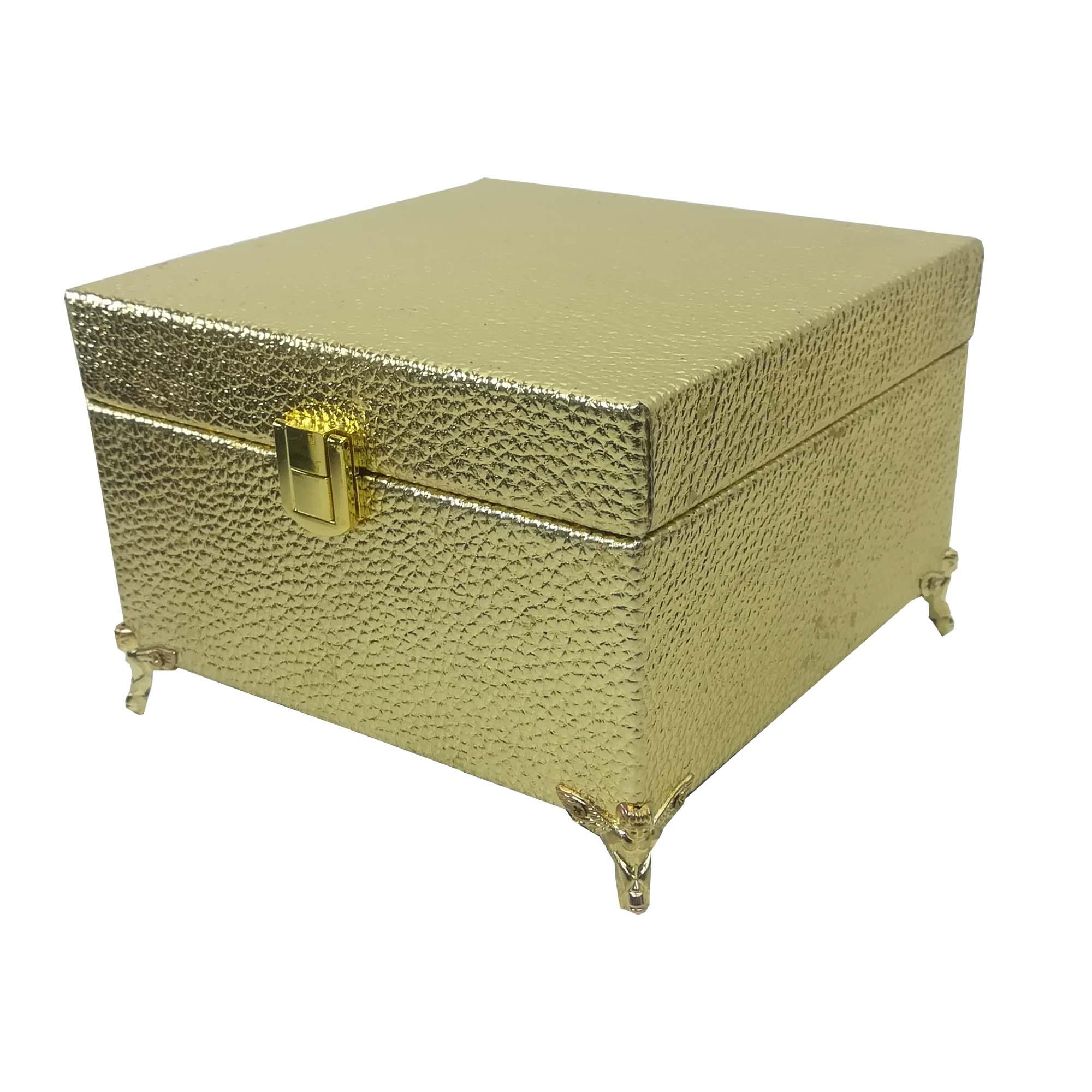 جعبه هدیه چوبی طرح چرم کد 418