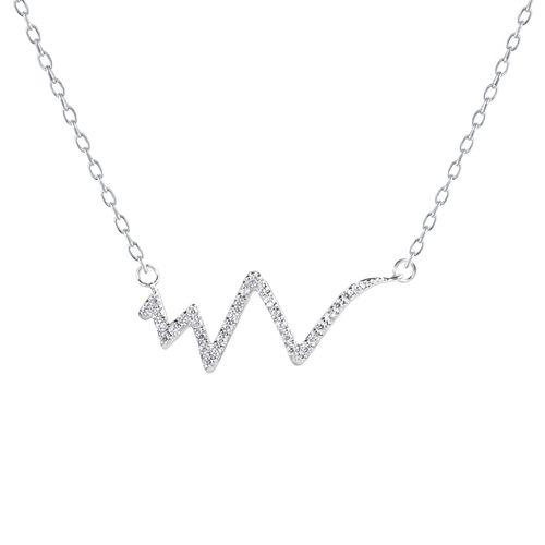 گردنبند نقره زنانه اقلیمه کد GN342