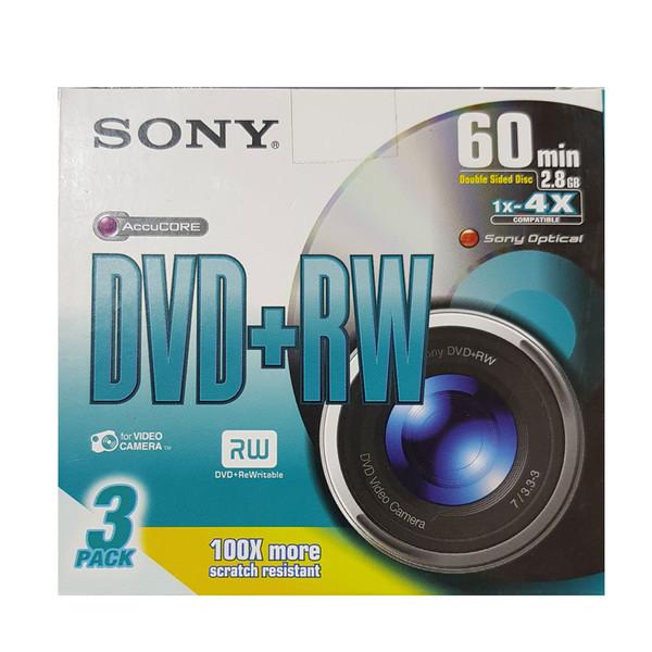 دی وی دی خام سونی مدل DOUBLE SIDED DISC بسته 3 عددی