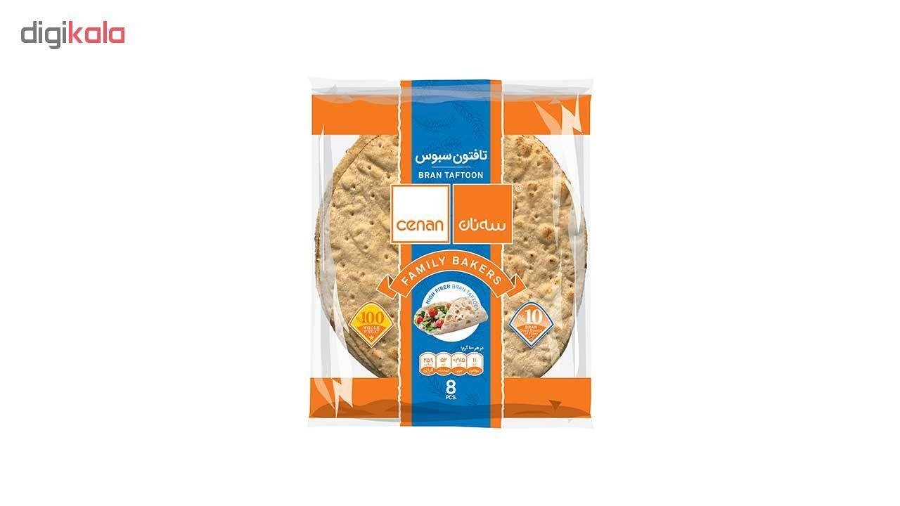 نان تافتون سبوس سه نان مقدار 450 گرم main 1 1